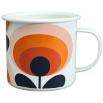 Orla Kiely - Enamel Mug Oval Flower Orange krus